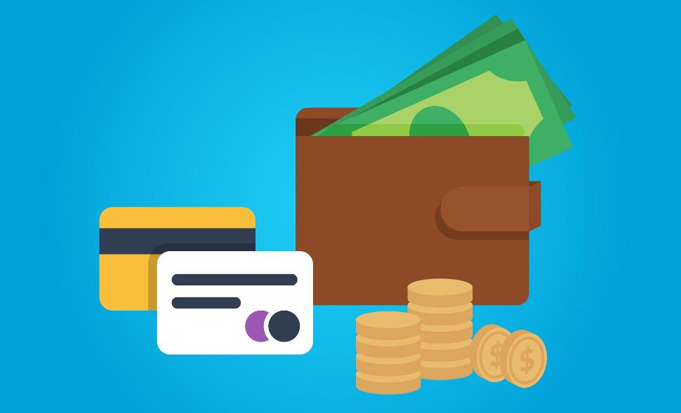 財布 クレジットカード イラスト お金 チケット