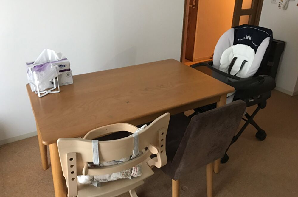 家 食卓 ハイローチェア 子供食卓