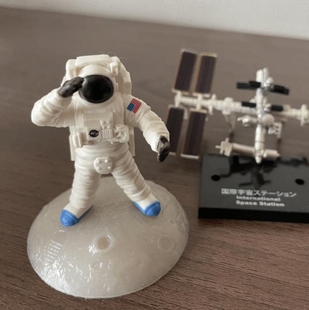 宇宙飛行士のガチャガチャ