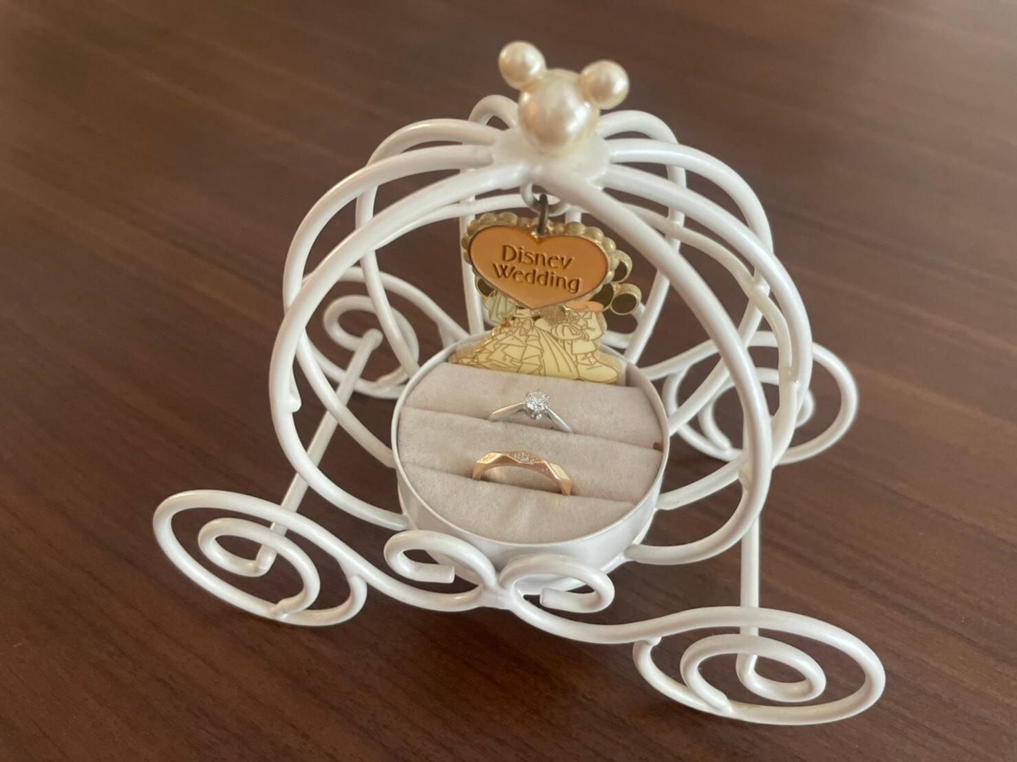 ディズニーの結婚指輪置き